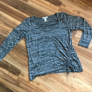 WHBM Black and Gray Top